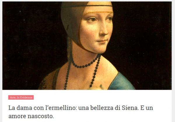 """Cecilia Gallerani: una """"dama"""" piena di fascino nata in Tartuca"""
