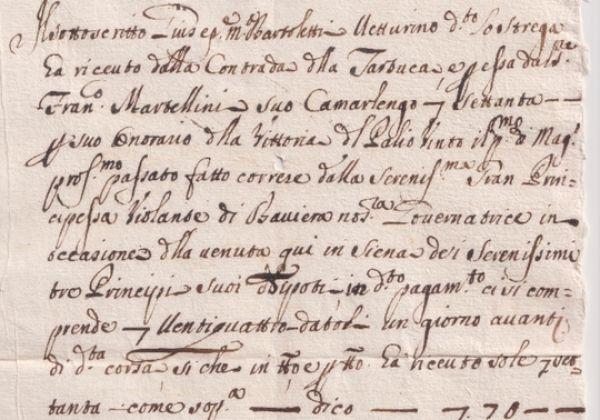 La vittoria del Palio Straordinario del 1722