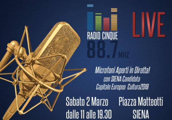 Siena candidata Capitale Europea Cultura 2019 ai microfoni di Radiocinque