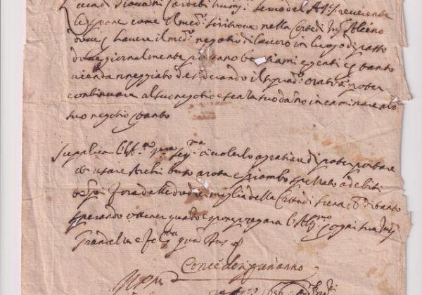 Il documento più antico conservato nel nostro Archivio