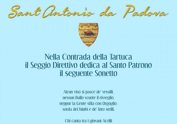 Il Sonetto dedicato al Santo Patrono