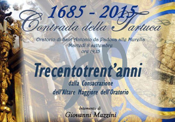 330 anni dalla consacrazione dell'Altare Maggiore